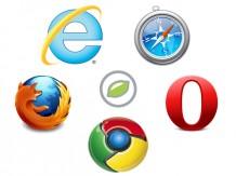 Immer noch die fünf Großen in Österreich: Microsoft Internet Explorer, Mozilla Firefox, Apple Safari, Google Chrome und Opera