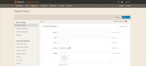 Magento 2 Backend: Produktanlage (Stand: 11. April 2014)
