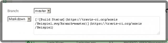 Man kann seine Badge-Graphik unter anderem per Markdown in die README-Datei der Extension einbinden.
