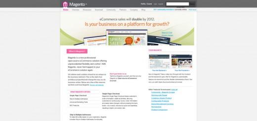 Magentos ursprüngliche Website