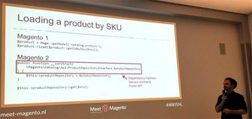 "Talk ""Building Magento 2 extensions 101 for Magento 1 Developers"" bei der Meet Magento 2015 Niederlande."