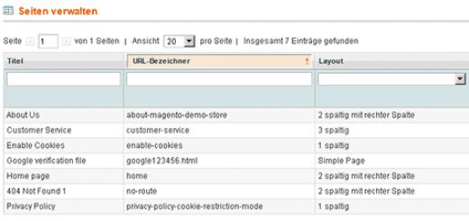 Mit dieser Extension kann man z.B. die Google-Verification-Datei direkt in Magento verwalten.