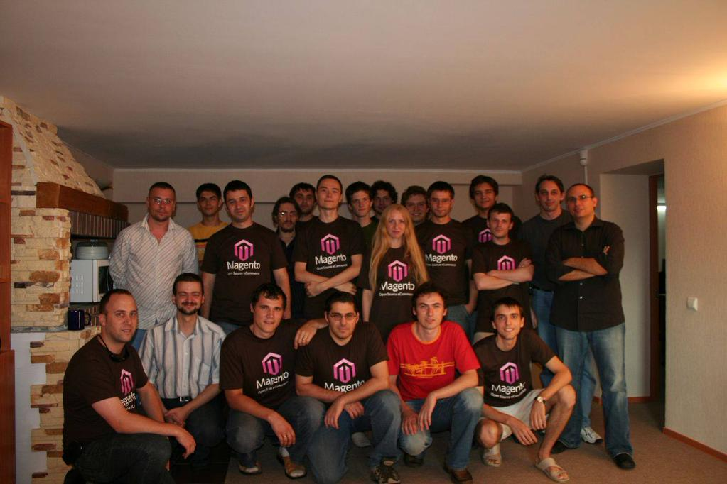 Yoav Kutner postete ein Bild des Original-Magento-Teams von 2007. (c) Yoav Kutner