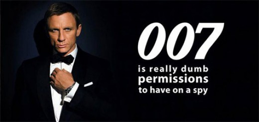 007 is really dump permissions to have on a spy (c) @nixcraft