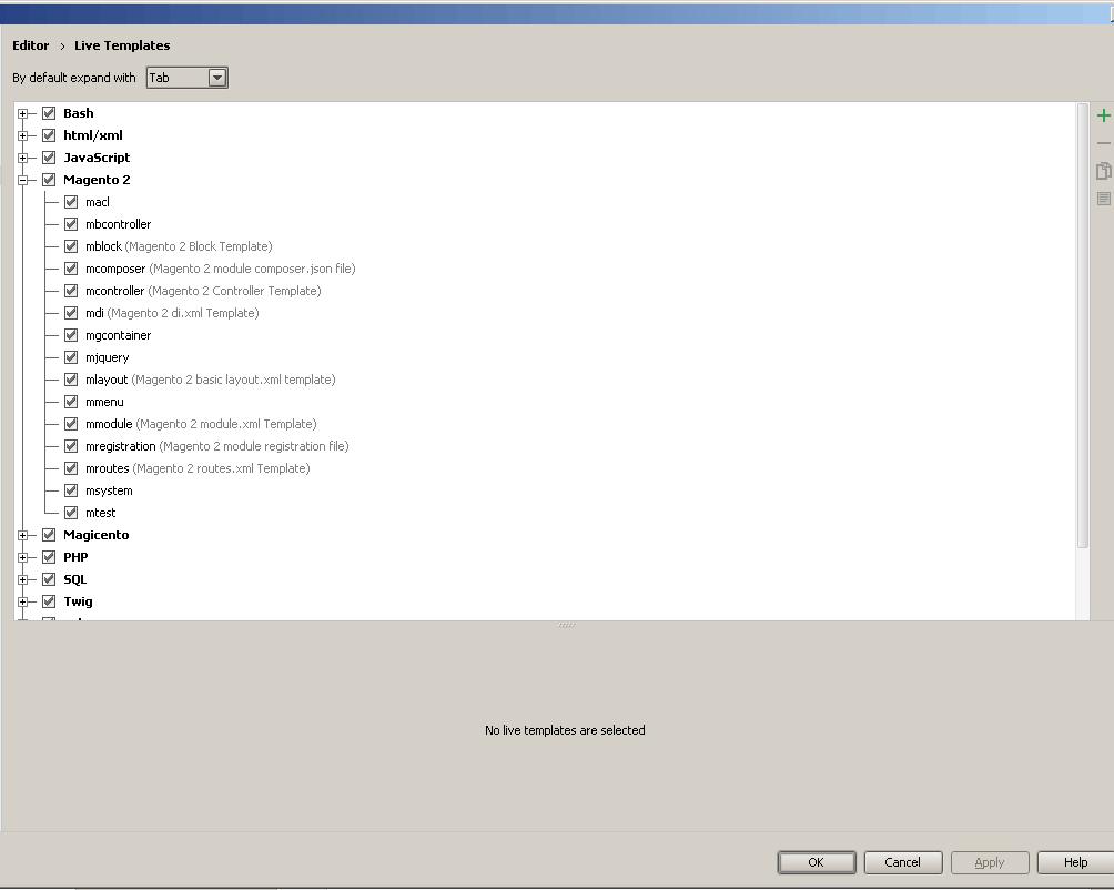 Liste von PhpStorm-Live-Templates für Magento 2