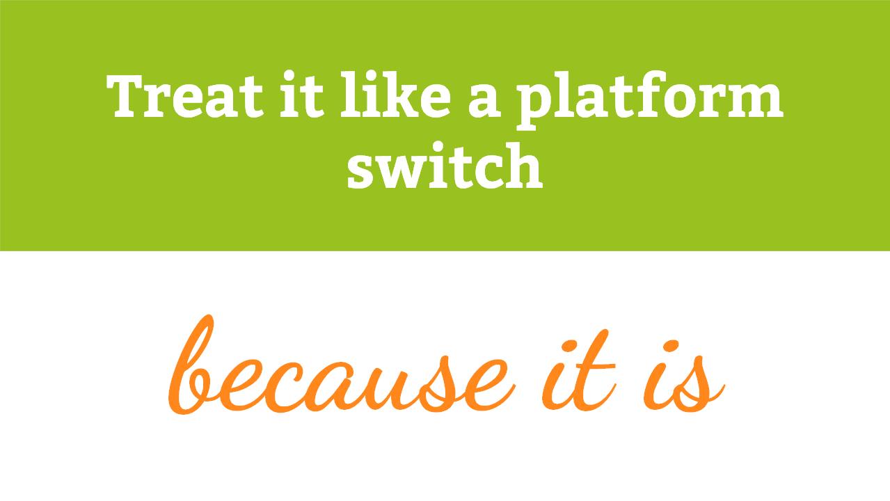 Sehen Sie den Wechsel zu Magento 2 als Plattform-Wechsel - und Chance