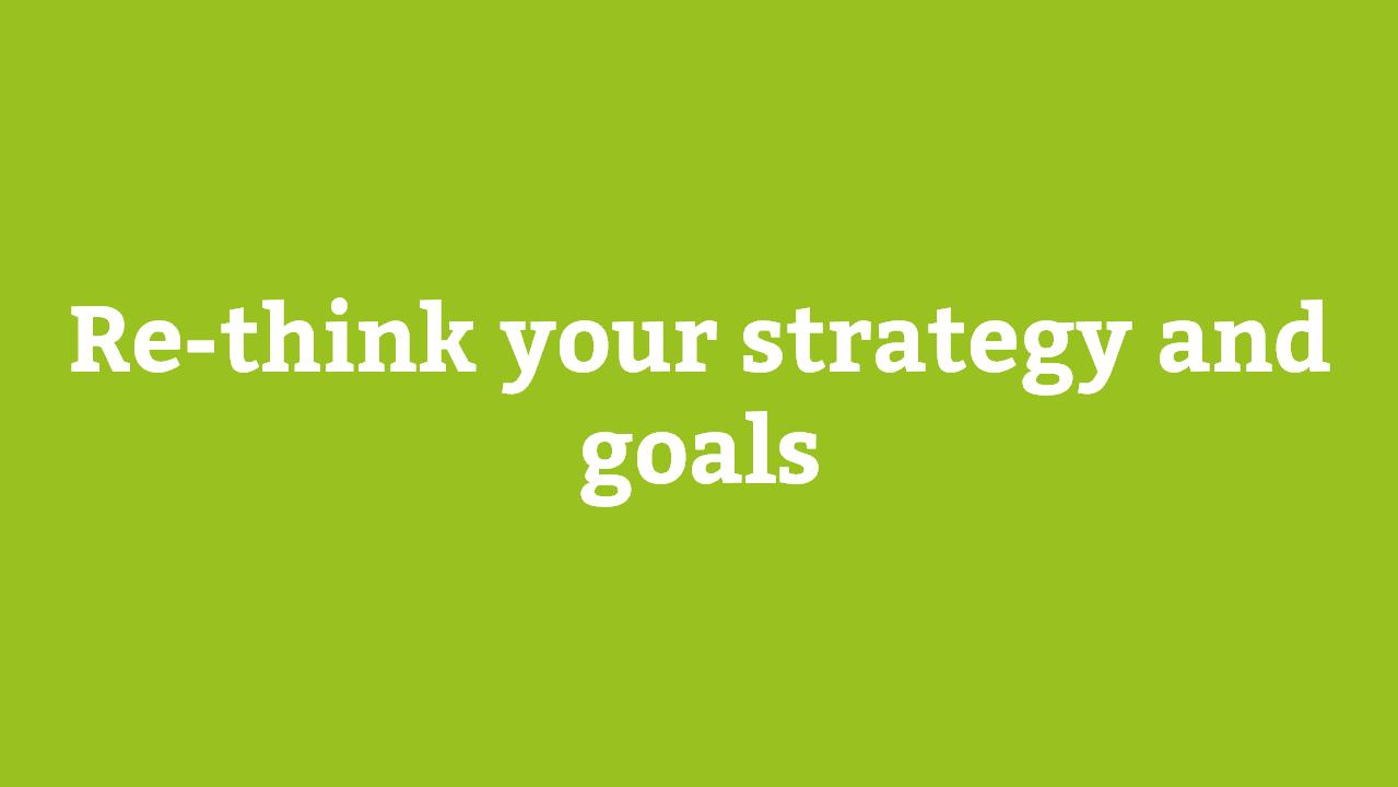 Überdenken Sie ihre Strategie und Ziele