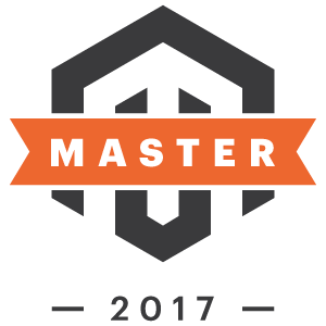 Badge für die Magento Masters 2017 (c) Magento